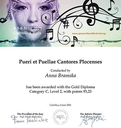Cantores Plocenses Diploma